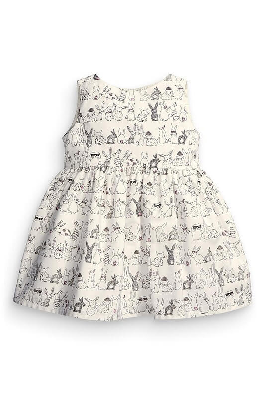 Baby Girls Bunny Pattern Printed Dress Baby Boutique