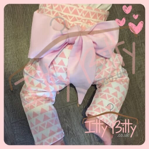 Pink Big Bow Trousers For Girls