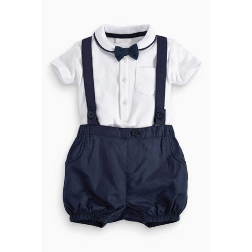 Baby Boy Bow Tie 3 Piece Set front