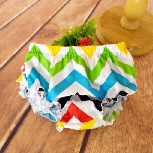 Rainbow Ruffled Baby Bloomers and Headband Outfit Set