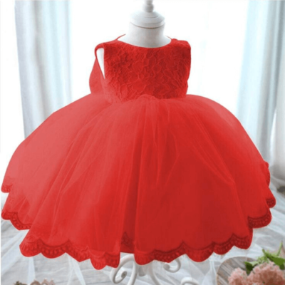 Princess Bow Dress Red