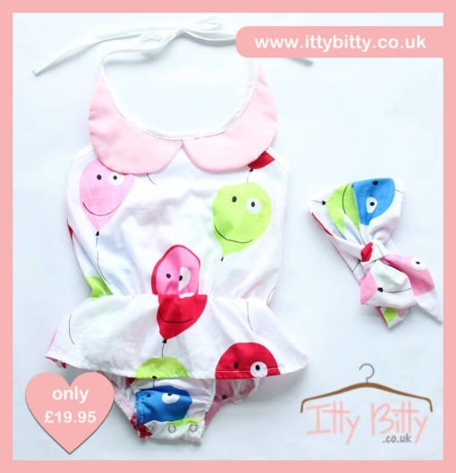 Itty Bitty 3 Piece Party Balloons Set Skirt & Headband