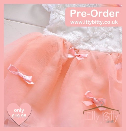 Itty Bitty Pink Bow Party Dress