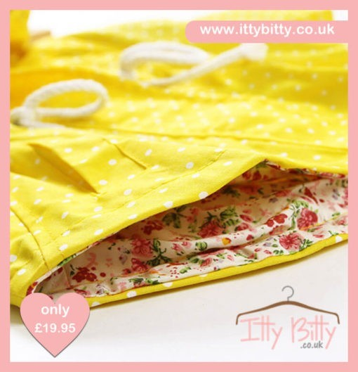 Itty Bitty Yellow Summer Jacket Inside