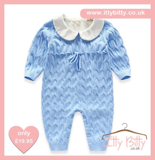 Itty Bitty Blue Spanish Romper