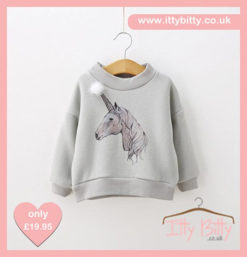 Itty Bitty Enchanted Unicorn Sweatshirt