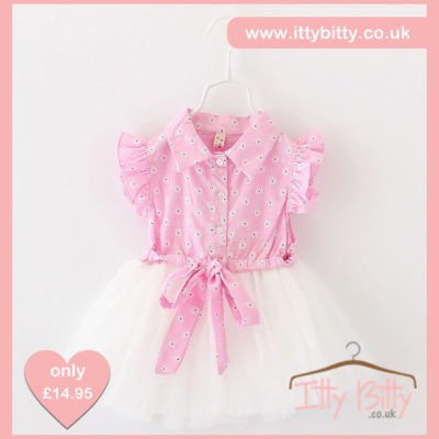 Itty Bitty Pink Flower Tutu Dress