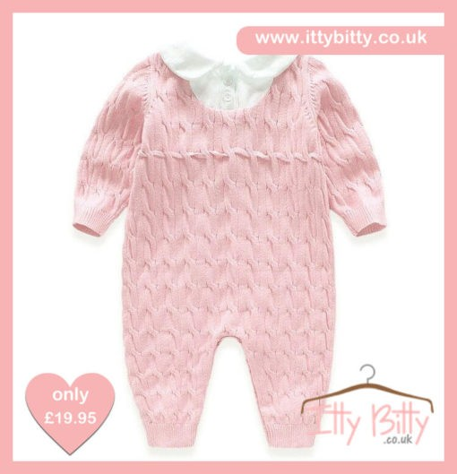 Itty Bitty Pink Spanish Romper Back
