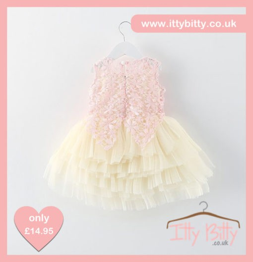 Itty Bitty Pink Sparkle Flower Power Dress