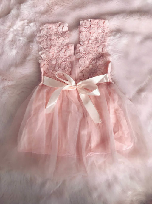 Itty Bitty Younger Girls Pink Flower Power Dress
