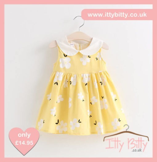 Itty Bitty Yellow Lei Flower Dress