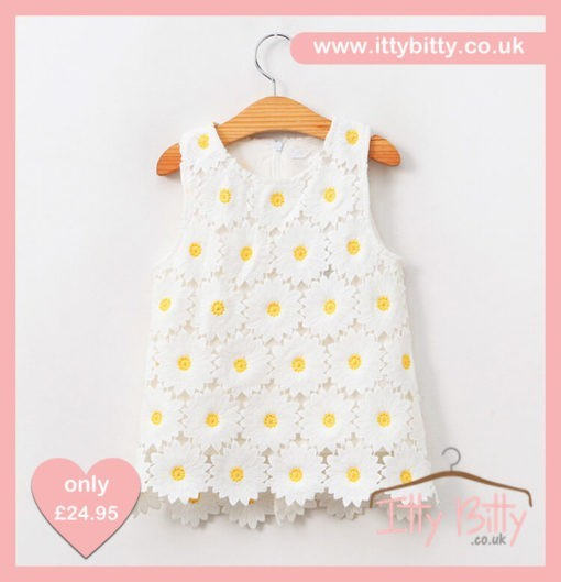 Itty Bitty Younger Girls Sunflower Dress