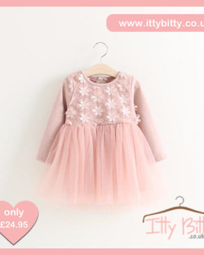 Itty Bitty Autumn Pink Bow Flower Jumper