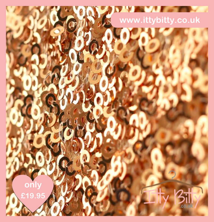 Itty Bitty Christmas Gold Sparkle & Pink Dress 4