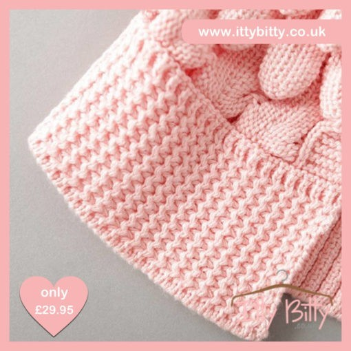 Itty Bitty Pink Petal Knitted Sweater