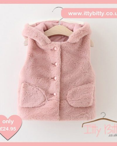 Itty Bitty Autumn Pink Cute Cat Gilet