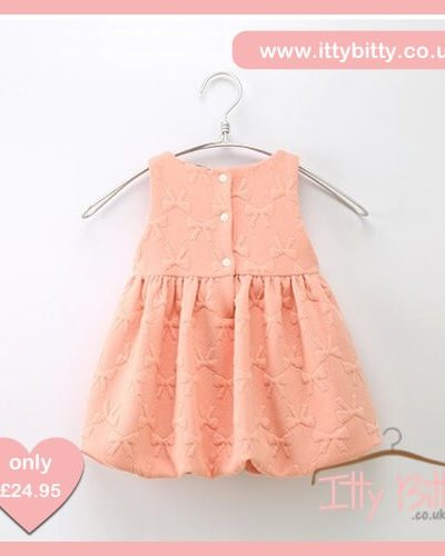 Itty Bitty Pink Bow Autumn Baggy Dress