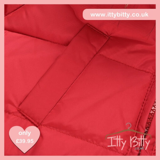 Itty Bitty VIP Red Christmas Bow Coat