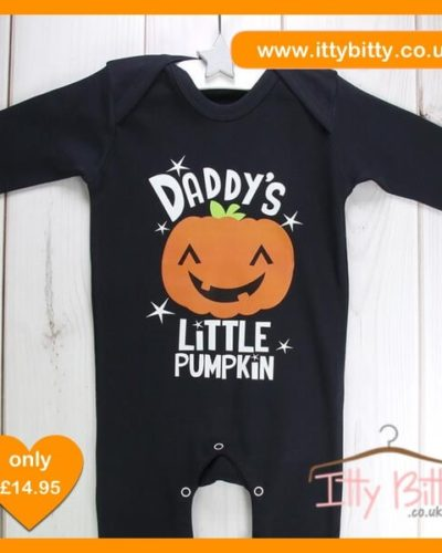 Itty Bitty Halloween Daddy's Little Pumpkin sleepsuit