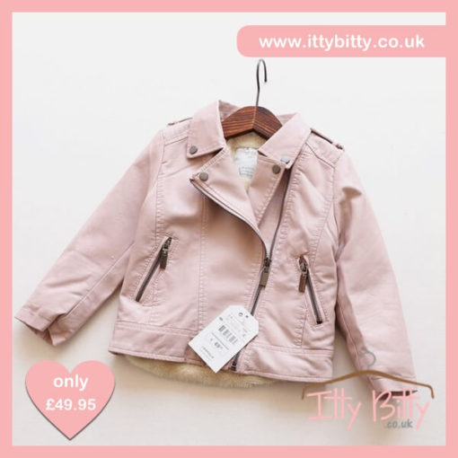 Itty Bitty VIP Pink Faux Leather Jacket