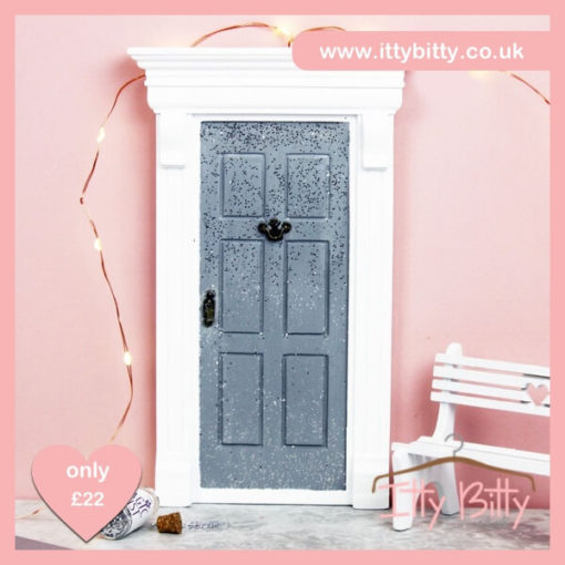 Itty Bitty Christmas Silver Sparkly Magic Door