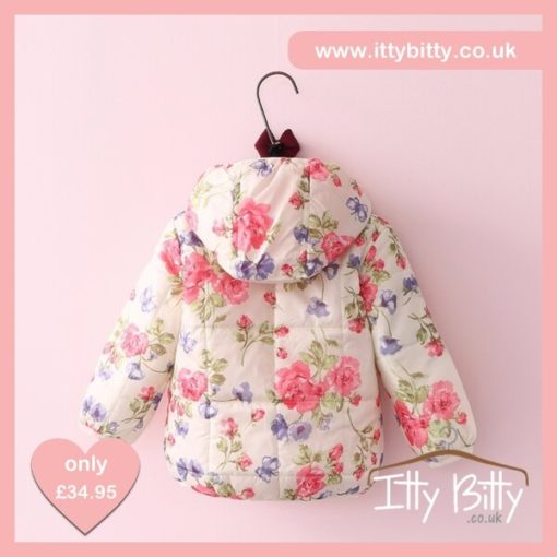 Itty Bitty VIP Floral Hooded Winter Coat