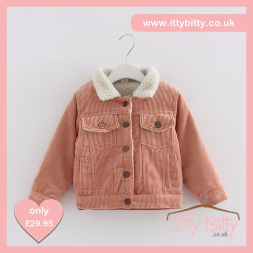 Itty Bitty Corduroy Long Sleeve Turn Down Collar Jacket