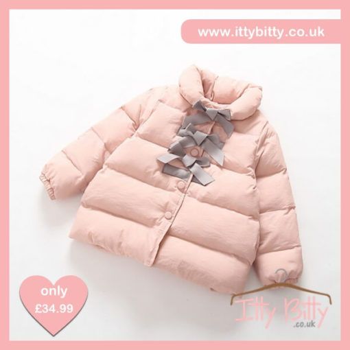 Itty Bitty VIP Pink Princess Bowknot Down Jacket