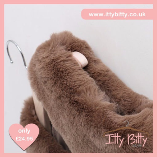 Itty Bitty Chocolate Faux Fur Tassel Gilet
