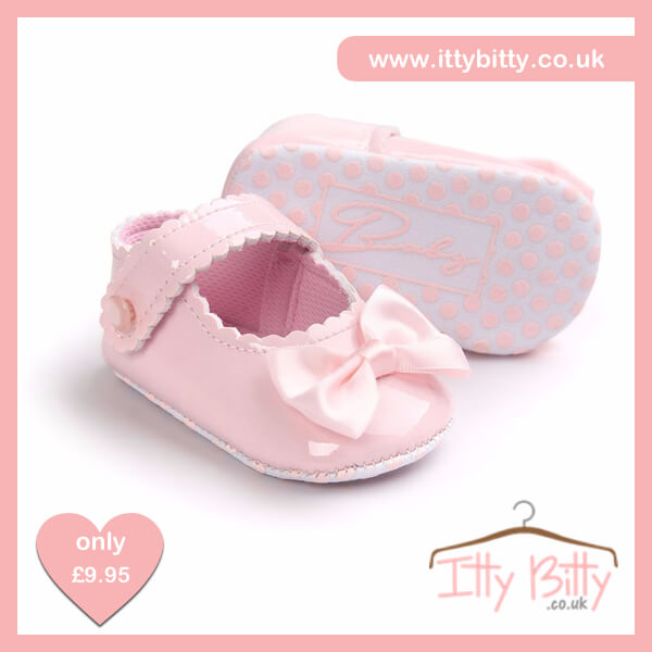 Itty Bitty Soft Sole Baby Girl First Walkers Shoes