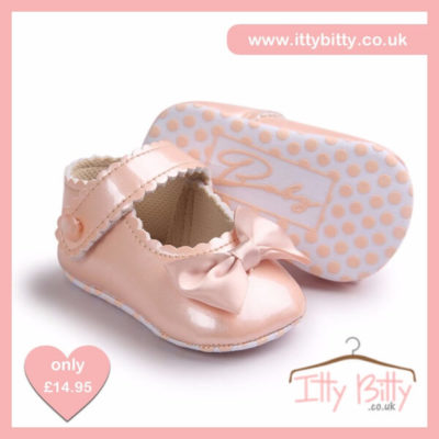 Itty Bitty Limited Edition Pearl Soft Sole Baby Girl First Walkers Shoes