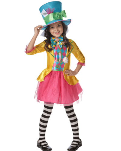 Disney Alice in Wonderland Mad Hatter Girl Child Costume