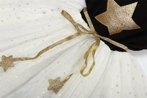 Itty Bitty Black & White Birthday Star Tutu Dress