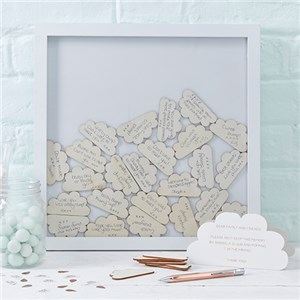 Itty Bitty Baby Shower Hello World Wooden Frame Guestbook