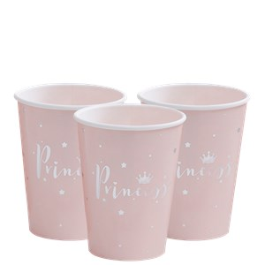 Itty Bitty Party Princess Perfection Silver Foiled Paper Cups