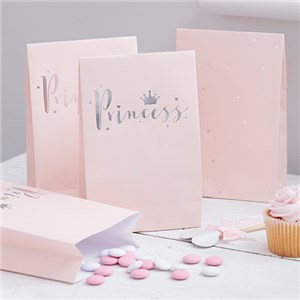 Itty Bitty Party Princess Perfection Silver Foiled Party Bags