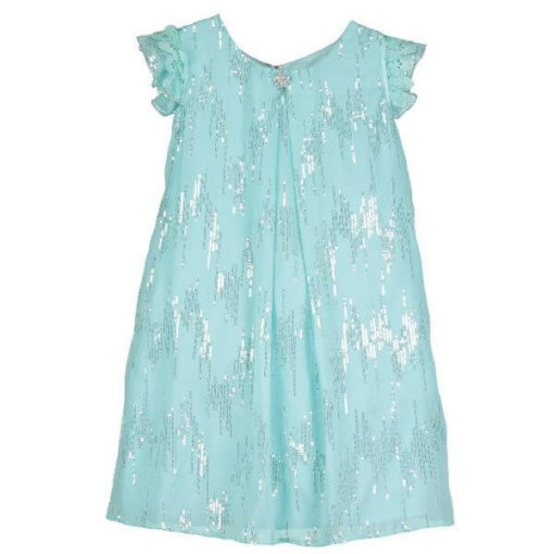 Disney Boutique Elsa Frozen Aqua Sequin Dress