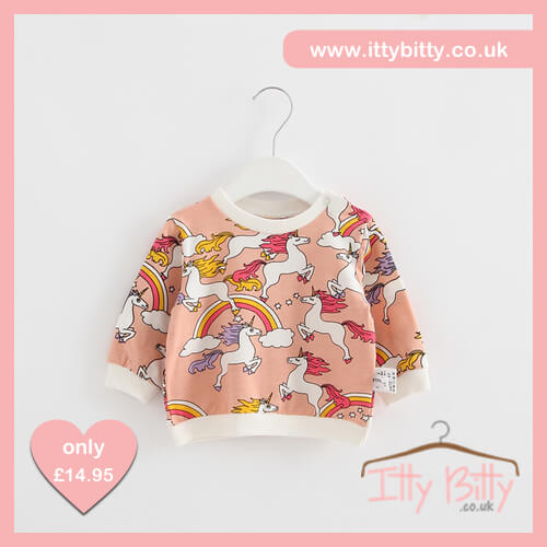 Itty Bitty Magic Unicorn Pink Summer Jumper