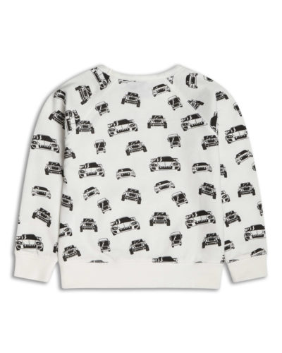 Boys Boutique Black & White Cars Sweatshirt
