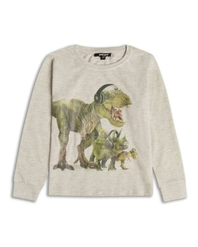Boys Boutique Dinosaurs DJ Beats Long Sleeve Top