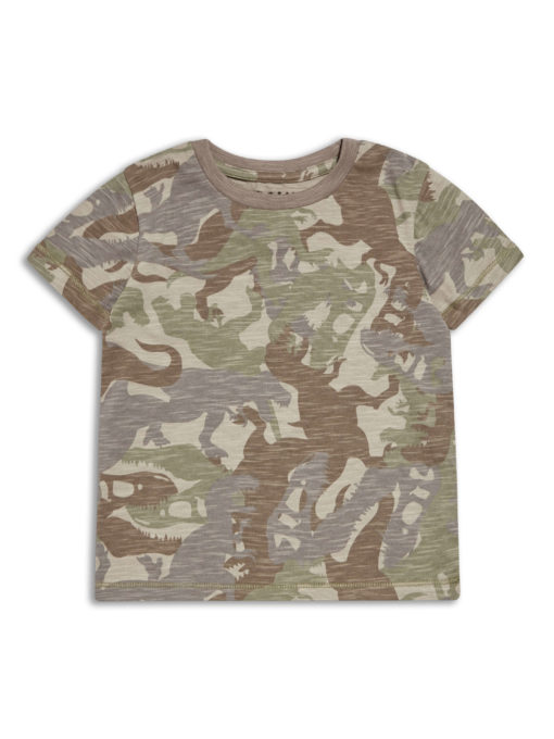 Boys Boutique Dinosaurs Cargo Army T Shirt