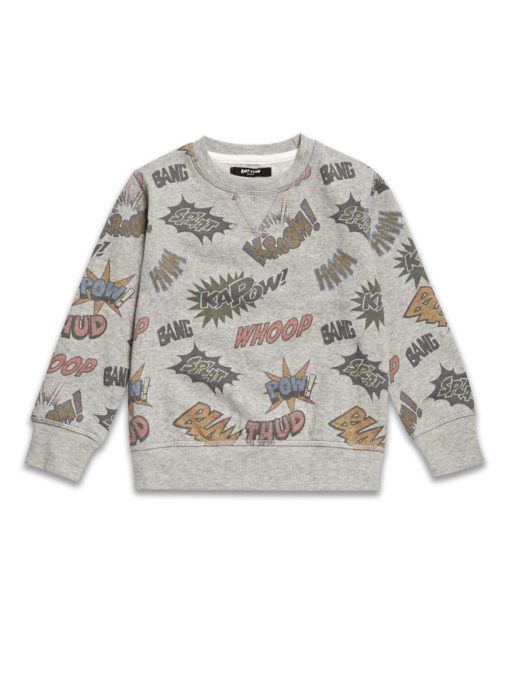 Boys Boutique Grey Comic Sweatshirt