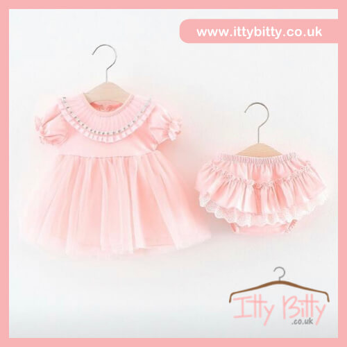 FRILLY PINK SET