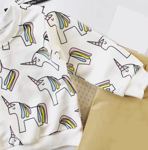 Itty Bitty Unicorn Long Sleeve Sweatshirt
