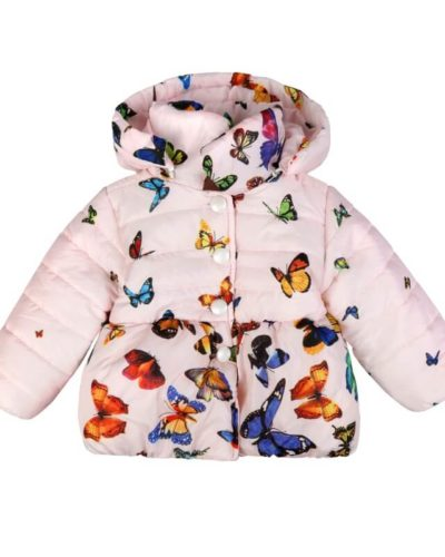 Itty Bitty Butterfly Pink Print Coat