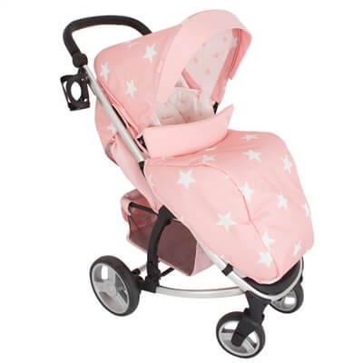 My Babiie Pink Stars MB200+ Travel System