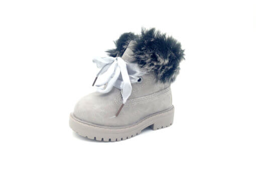 Itty Bitty Alaskan Grey Winter fur boots