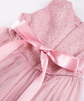 Itty Bitty Pink Princess Flower Dress