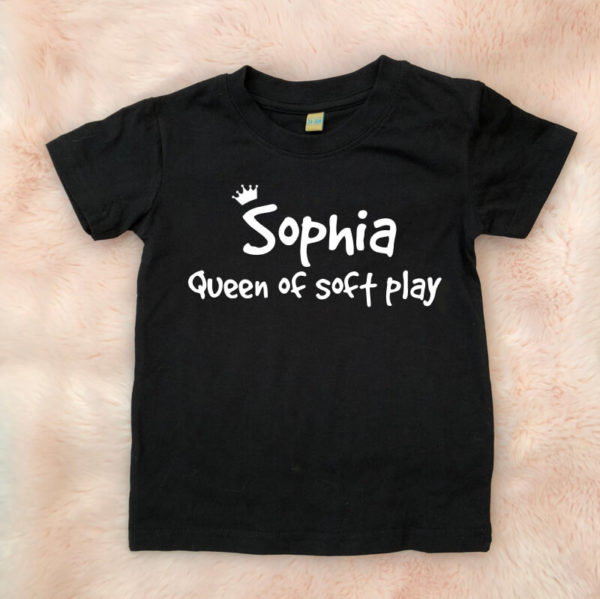 Itty Bitty Personalised Queen of soft play T shirt