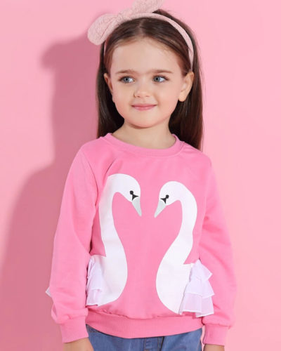 Itty Bitty Pink Swan Jumper